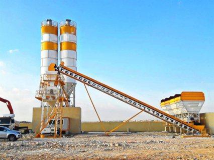 محطة خلط الخرسانة HZS50,مصنع خلط الخرسانة 50 م3/ساعة